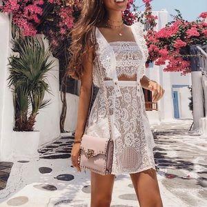 For Love & Lemons Tati Pinafore dress